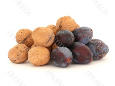 Walnuts and plums