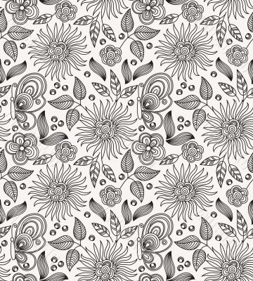 Decorative flower seamless background