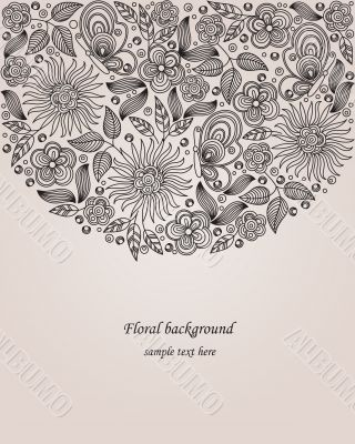 Decorative flower illustration
