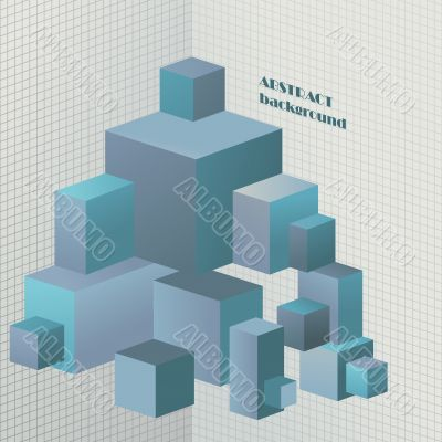 Abstract 3D illustration for design