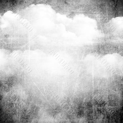 Abstract grunge background with clouds