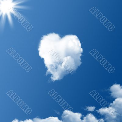 cloud in the shape of a heart