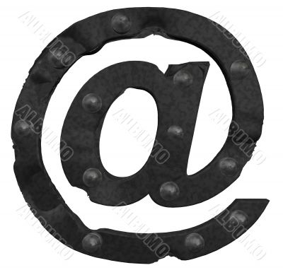 riveted email symbol