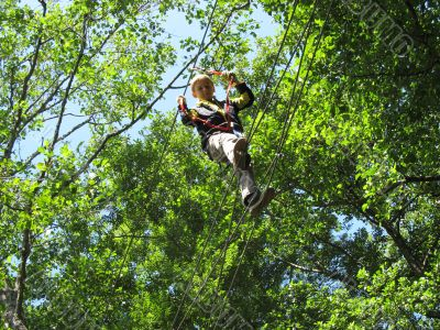 Overcoming difficult obstacles in the Adventure Park