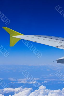 Flugzeug am Himmel, Tragfläche, Wings