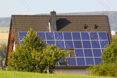 Haus mit Solar Technik , House with Solar technology