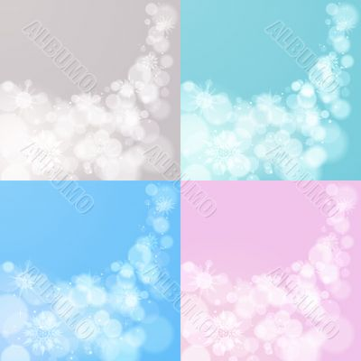 Four abstract Christmas backgrounds