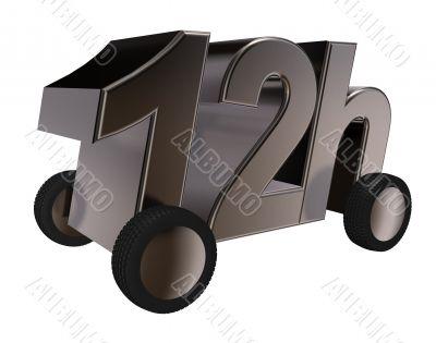 12h on wheels