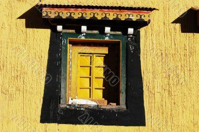 Typical Tibetan window