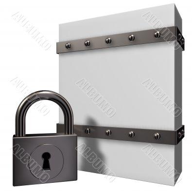 box and padlock