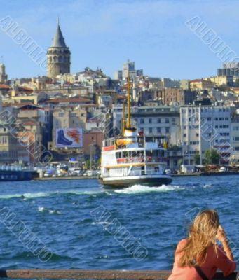 A scene in Istanbul, Turkey