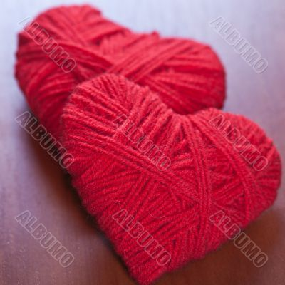 two red thread hearts
