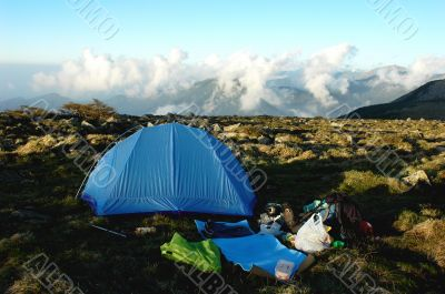 Camping on the top of mountains