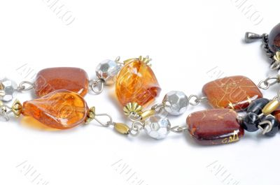 Necklace made of gem and stone