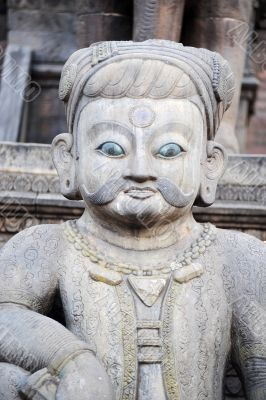 Ancient buddha sculpture in Nepal