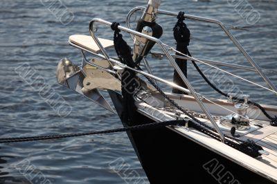 anchor on a sailing yacht