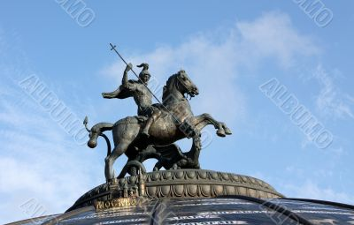 The sculpture `George the Victorious`