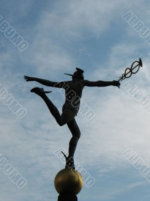 The sculpture `Mercury`