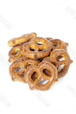 crunchy knot shape pretzel