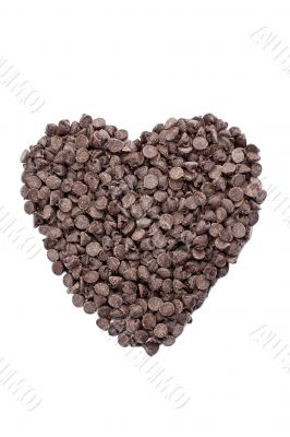 heart shape made of chocolates