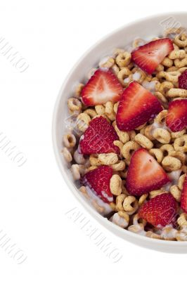 cropped image of corn flakes rings