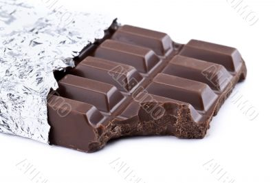 missing bite of chocolate bar