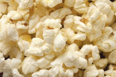 macro image of pop corn