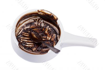 bowl with empty chocolate sauce