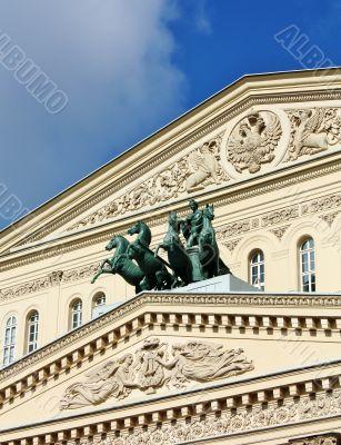 Facade of Bolshoi Theatre
