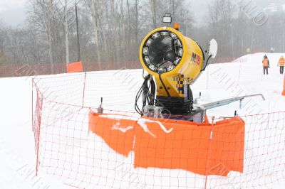 device for the production of snow