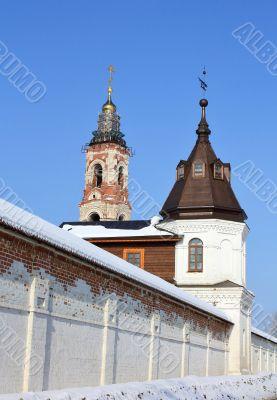 Wall tower and belfry of the St. Nicholas Berlyukovsky Monastery