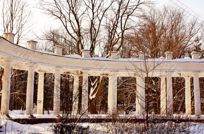 colonnade of the old manor