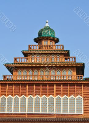 Wooden ancient tower