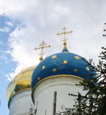 Domes of Holy Trinity Sergius Lavra