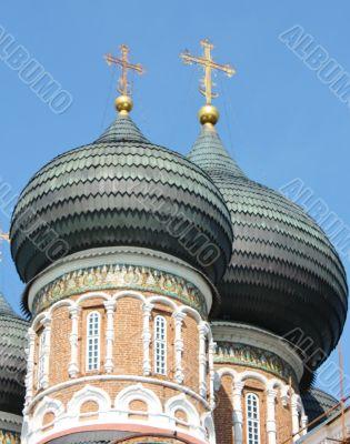 Black domes of the orthodox church