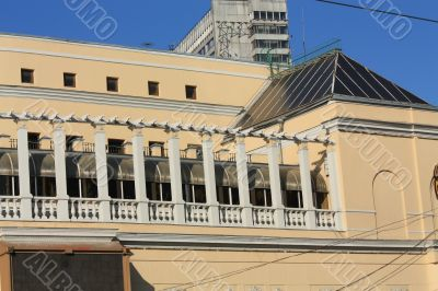 Balcony of a historic building