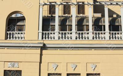 Balcony of historic building