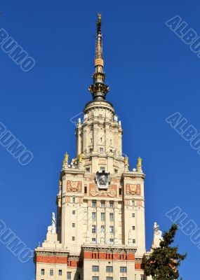 Top of the Moscow University building