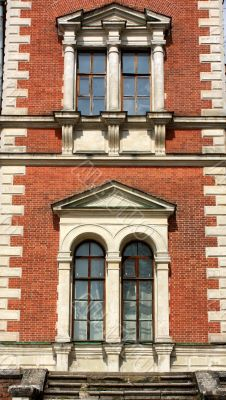 Windows of the classical style building