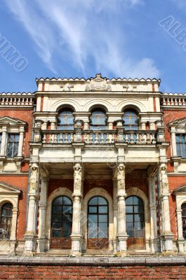Facade of the old estate built in the classical style