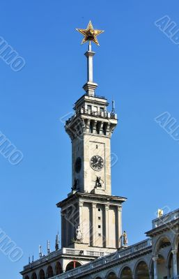 Spire of the building with a star