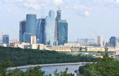 "Buildings of the area ""Moscow City"""
