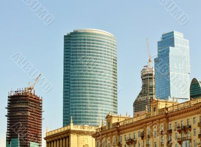 Construction site of the area `Moscow City`