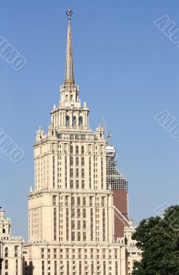 Monumental building of the Stalin`s style