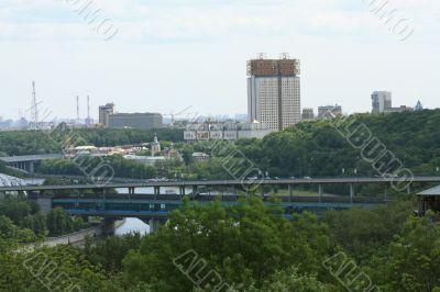 Bridge through Moscow River