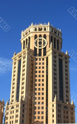 Tower of massive building