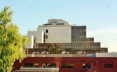Facade of massive building