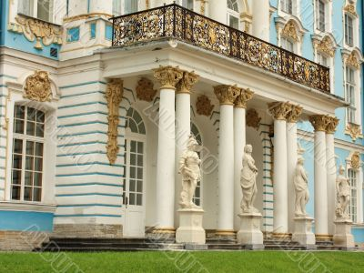 Entrance with balcony in to the baroque palace