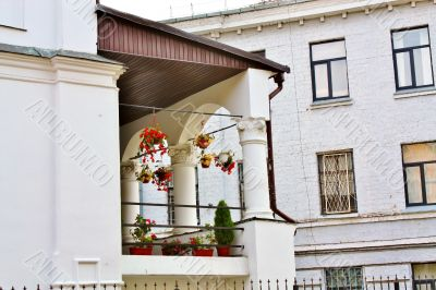 Balcony with arches