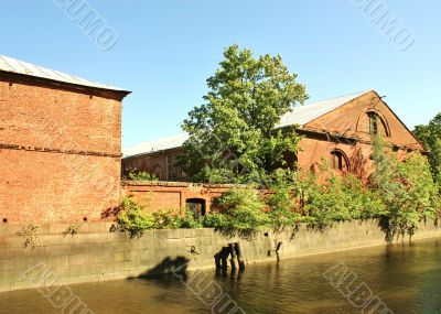 Old buildings of red brick